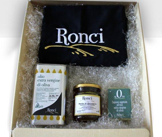 Confezioni regalo olio umbro Ronci